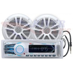 PACK REPRODUCTOR MEDIA DIGITAL MECHLESS BLUETOOTH AM/FM/USB/MP3/SD/AUX CON ALTAVOCES 164mm
