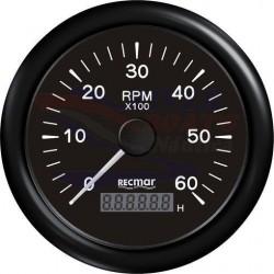 CUENTAVUELTAS 1.0/10.0 - 0/6000 RPM NEGR