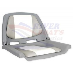 ASIENTO PLEGABLE FISHERMAN GRIS/BLANCO