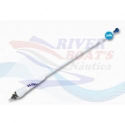 ANTENA VHF GLOMEX - 900 MM - FIBRA - 18 M + RA