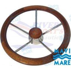 VOLANTE INOX-MADERA 350